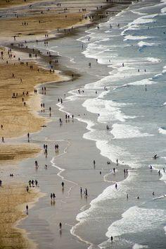 Basque Country, Gipuzkoa, Zarautz Beach (by Yago Ochoteco, via Flickr)