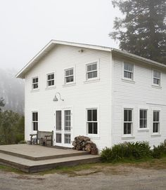 simple white farmhouse