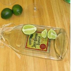 Flattened glass bottle in convection oven