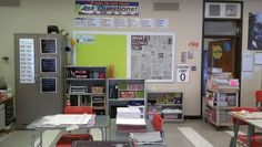 Great high school bulletin board ideas! I love the newspaper as the background!!