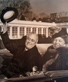 President Franklin Roosevelt and First Lady Eleanor Roosevelt.