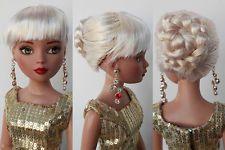 """Sherry Fashion Wig /7-8"""" 16"""" Ellowyne Wilde/1/4 Dollfie MSD Brown Doll(3-SEW-4"""
