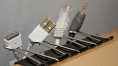 Cable Catcher | Community Post: 54 Uses For Binder Clips That Will Change Your Life