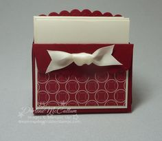 Stampin Up Canada Scallop Envelope Box - Video