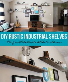 If you're going for an urban look in your home, try an industrial shelving unit!