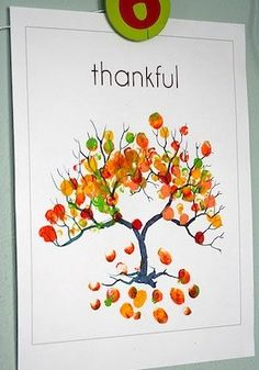 sunshine: Fingerprint autumn craft, maybe on a canvas and write what we are thankful for everyday.
