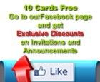 Find 10 free cards and lots of other promos like free shipping, your proof within 1 hour, free shipping and more at GraduationCardsShop