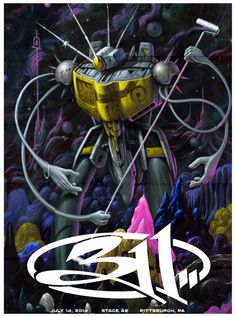 Jeff Soto 311 Pittsburgh Poster World Premiere Exclusive
