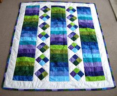 Katherine's Dabblings: Jelly Roll Quilt (same pattern as pink jelly roll)