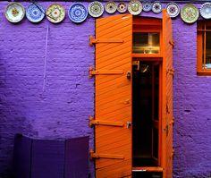 Violet and orange