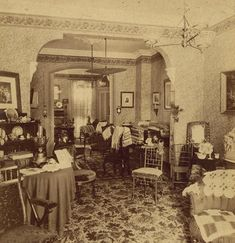 """""""Victorian parlor 1880's"""""""