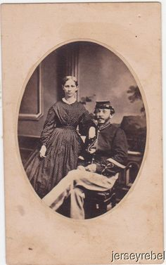 CDV Zouave Chasseur with Wife York PA Backmark