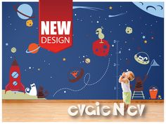Space Cats Wall Decals | Evgie Wall Decals