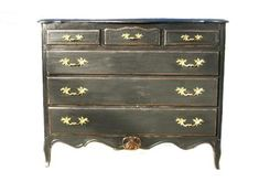How to paint french provincial furniture black