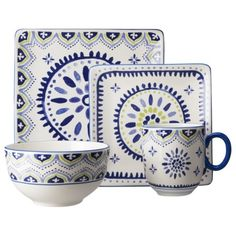 Threshold™ 16 Piece Clifton Dinnerware Set - White and Blue