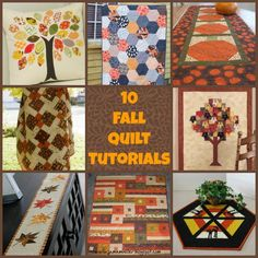 10 fall quilt tutorials