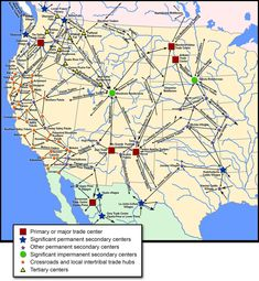 Pre-Colombian trade routes in Western North America