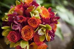 Flowers by Erin: A few of my favorite things... sunsets and purple color palettes, orang, color combos, wedding bouquets, sunset, wedding flowers, bridal bouquet, fall weddings, flower ideas