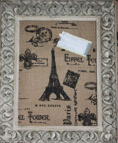 Antique framed cork board via Etsy