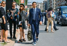 Tommy Ton Shoots Milan Fashion Week, June 23, 2014 - the dude to the left