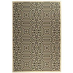 Another striking graphic rug.