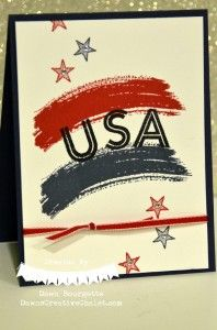 Work Of Art, Metro Type Alphabet & Something To Say Stamp Sets  Dawn Bourgette - Dawn's Creative Chalet  http://www.dawnscreativechalet.stampinup.net  #usa #memorialday #workofart #metrotypealphabet #cardmaking #handstamped #diy #dawnscreativecalet