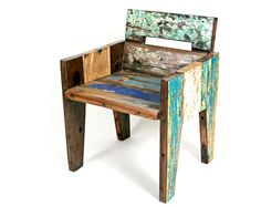 Reclaimed wood chair.