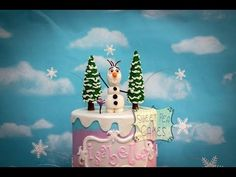 Great tutorial on how to make a fondant tree and Olaf