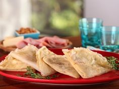 Buckwheat Crepes with Ham, Gruyere and Caramelized Onions from CookingChannelTV.com