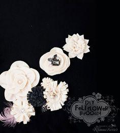 Rhonna Farrer DIY felt + fabric flowers
