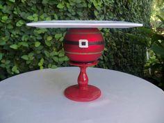 Cake Stand / Santa Christmas Cupcake Stand / by JumbledBrains, $25.00