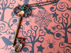 Pumpkin Spice Inspired Key Necklace