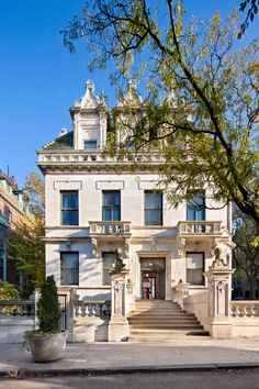"""NYC. A pinner says:  """"351 Riverside Drive, built in 1909, the only free standing mansion in Manhattan"""""""