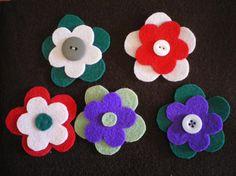 Flores de Fieltro (broches)