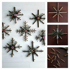 DIY Rustic Snowflakes