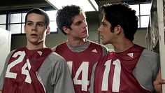 Isaac helps Stiles and Scott score tickets to the warehouse party.  Photo by MTV