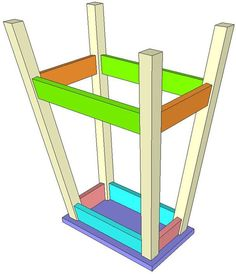 Free Plans DIY Bar Stool – So cheap!  Would be a great project with scrap wood!