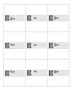 A set of flash cards for practicing notes in alto clef. Printable PDF files are provided for the front and back. Download them at http://musicflashcards.org/flashcards/notes/alto-clef/