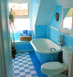 decor, idea, aqua blue, color, dormer windows