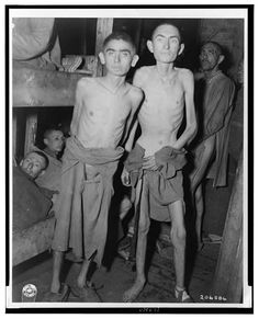 These inmates of the Amphing [i.e., Ampfing] concentration camp in Germany were recently liberated by U.S. Third Army troops - 1945