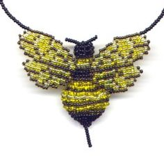 3D Beaded Bumble Bee : Beading Patterns and kits by Dragon!, The art of beading.