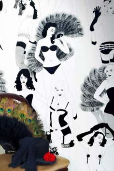 Burlesque wallpaper - I can't think of anywhere it would go in my home but it looks great.