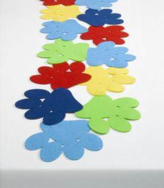 paw prints felt table runner - Chasing Fireflies