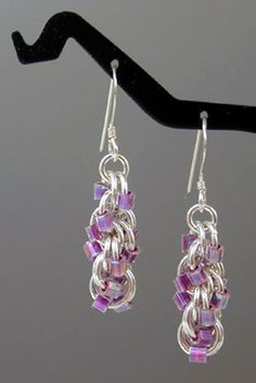 Double Spiral Earrings: an introduction to chainmail