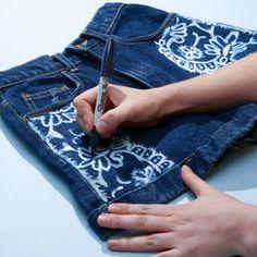 How to Make Bleach Printed Shorts | TeenVogue.com