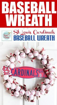 DIY baseball wreath!  Perfect for summer! Go white sox!