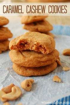 Caramel Cashew Cookies Recipe