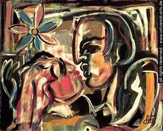 "Jacqueline Ditt - ""Kiss Me"" 1994 (Küss Mich) original painting"