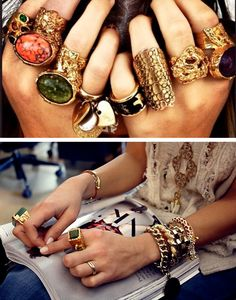 #ysl #rings #gold #bling