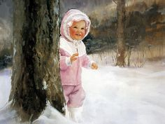 Donald Zolan Oil Painting : Golden childhood